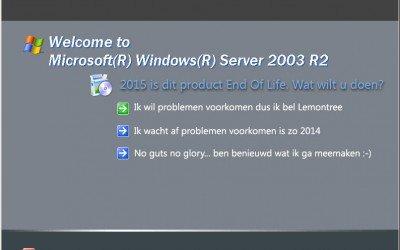 Einde ondersteuning voor Windows Server 2003